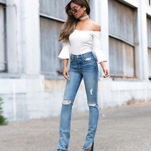 Grlfrnd Natalia High Rise Distressed Skinny Jeans